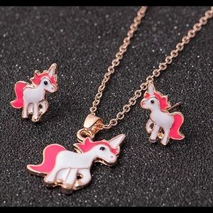 Other - Unicorn necklace and earrings